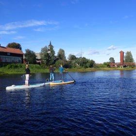 SUP-paddling på Västerdalälven