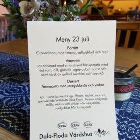 trerätters meny på Dala-Floda Värdshus