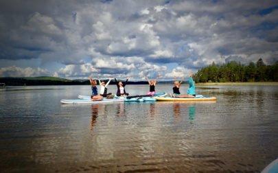 SUP yoga Flosjön