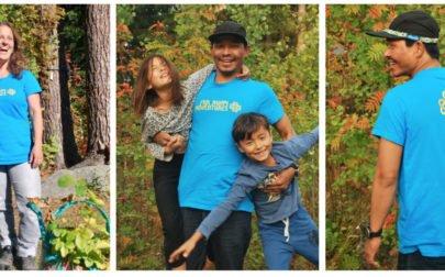 Familjen Gurung i Far Away Adventures t-shirts