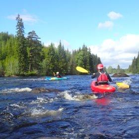 paddling på Västerdalälven, kurs i forskajak