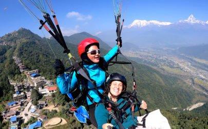 skärmflyg i Nepal