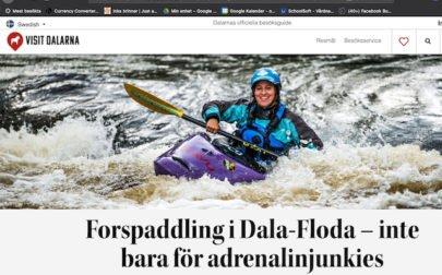forspaddling i Dala-Floda, reportage