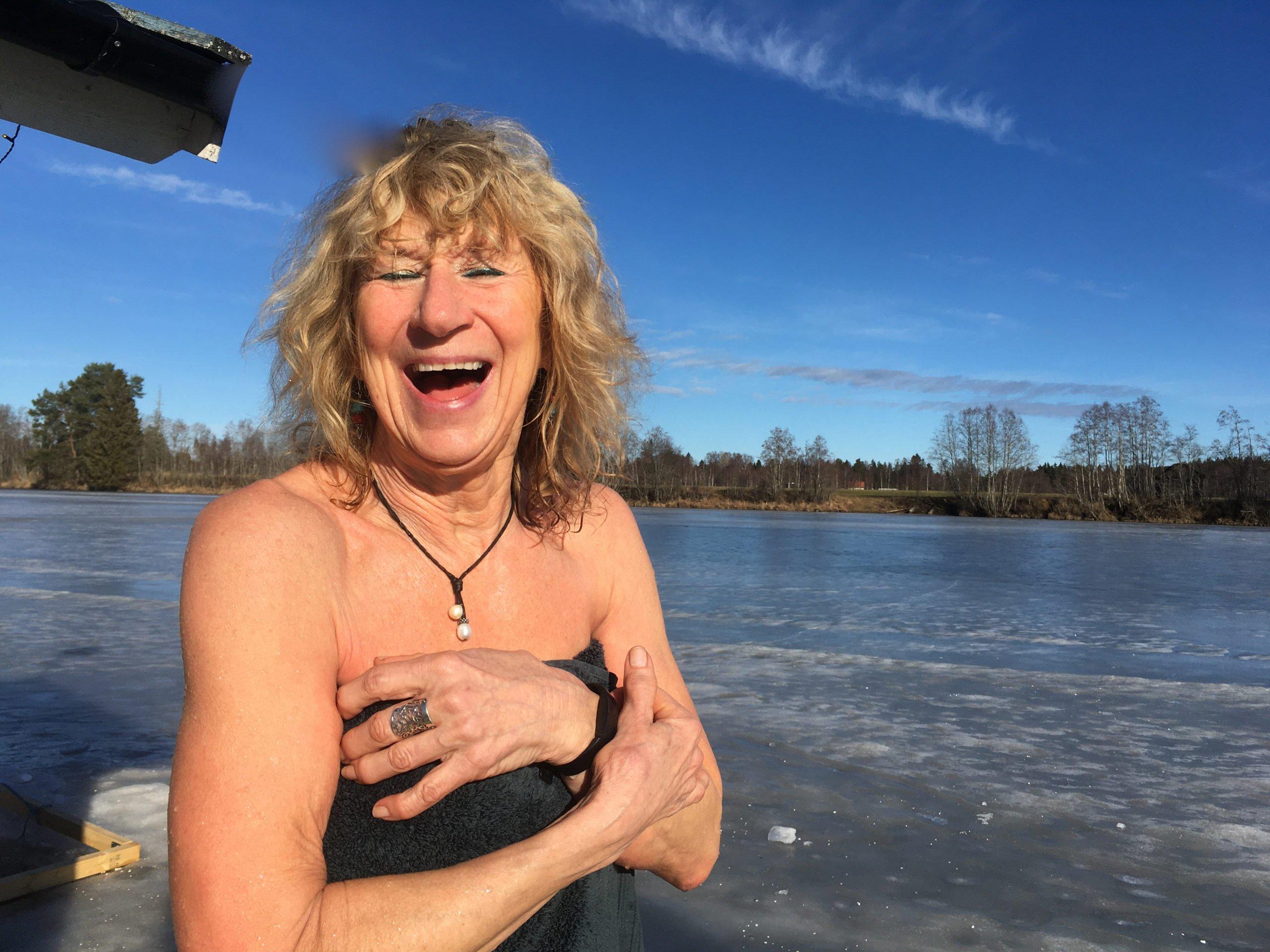 Lena Westin efter kallbad